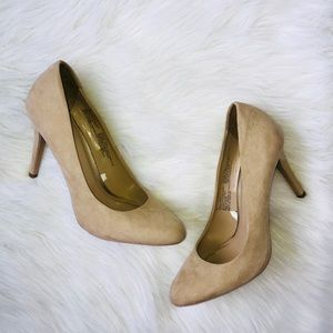 Tan Sueded Heels